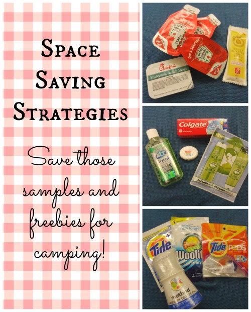 Save those samples and freebies for camping