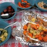 Kielbasa foil packet dinner