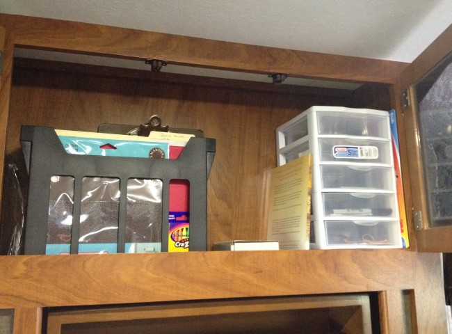 camper cupboard organization