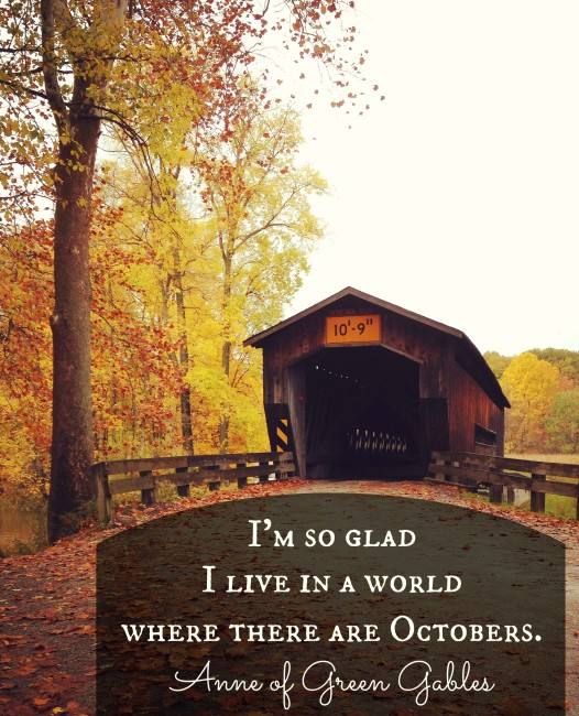 Anne of Green Gables quote about fall