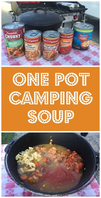 One pot camping soup
