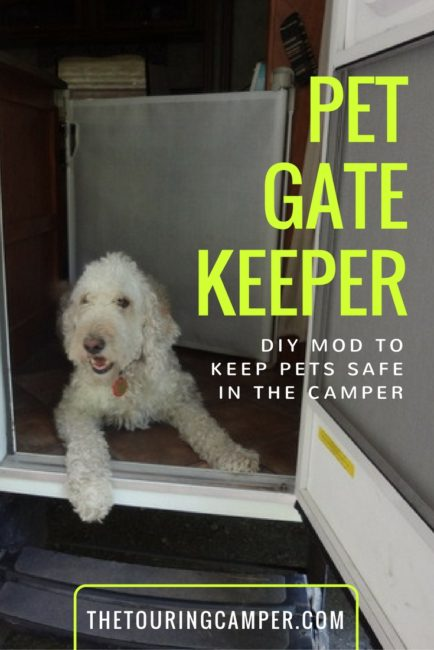 Dog gate in camper