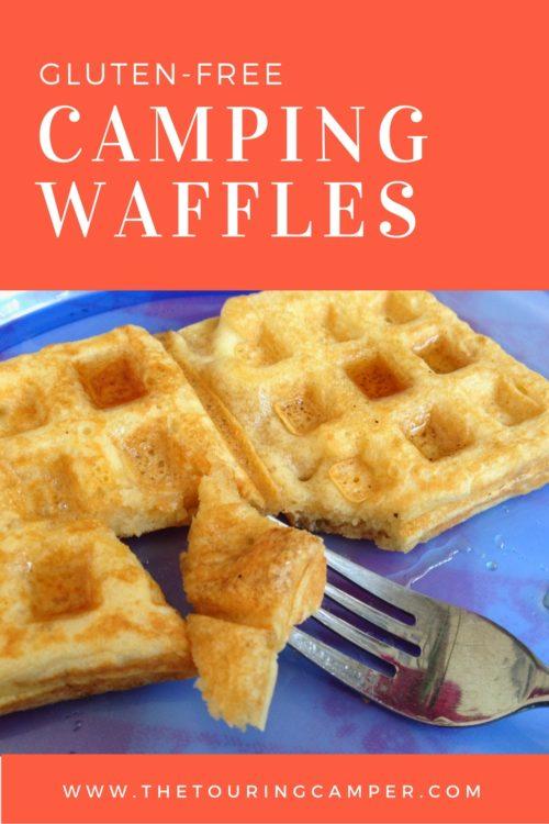 gluten-free camping waffles