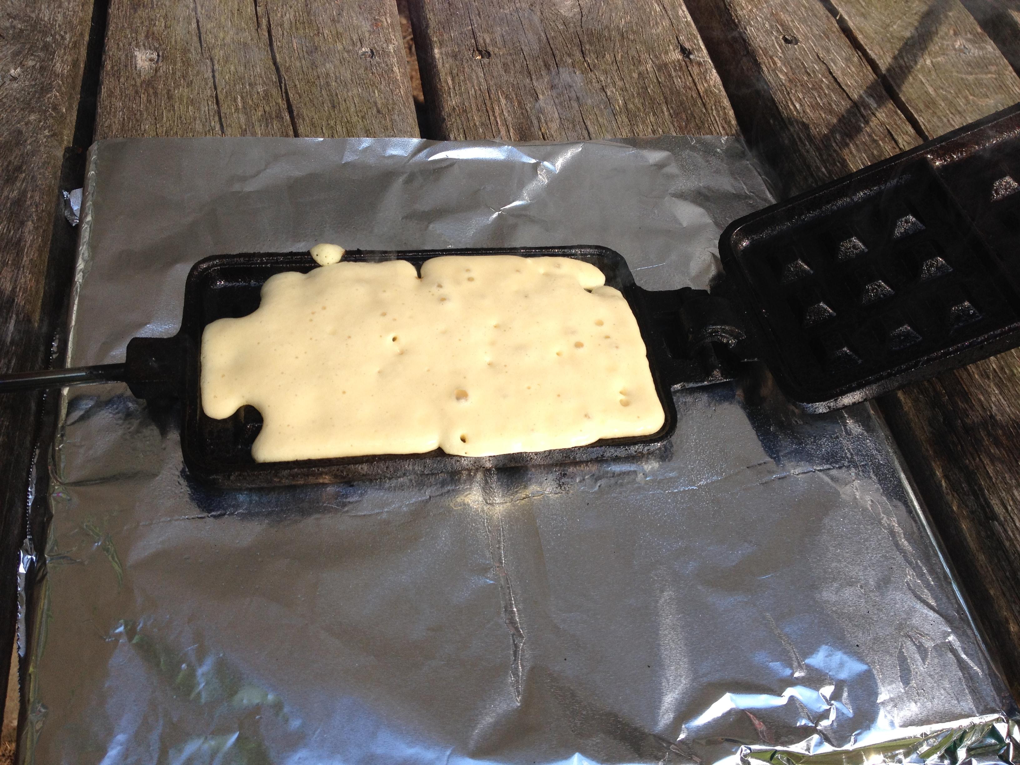 Gluten-free campfire waffles